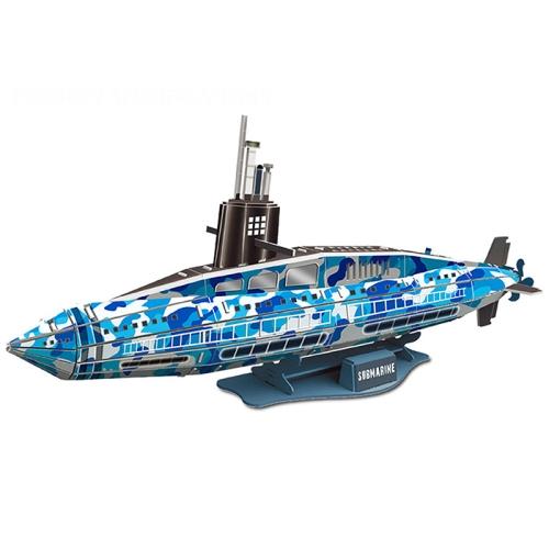 MoFun B468-3 3D Puzzle 54 PCS DIY Assembling Toy Submarine