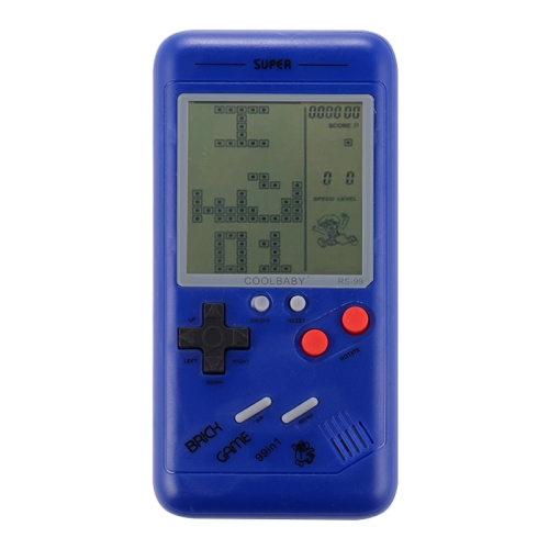 Sunsky Rs 99 Retro Tetris Classic Handheld Game Console 3 5 Inch Screen Built In 26 Kinds Games Blue