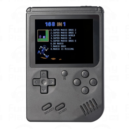 RS-6A Retro Mini Handheld Game Console, 3.0 inch 8 Bits Color 168 Games Retro FC Game Player(Black) 2015 street fighting double arcade games console arcade video game machine av out two player video game