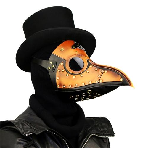 HG090 Halloween Two-color Stitching Beak Shape Mask