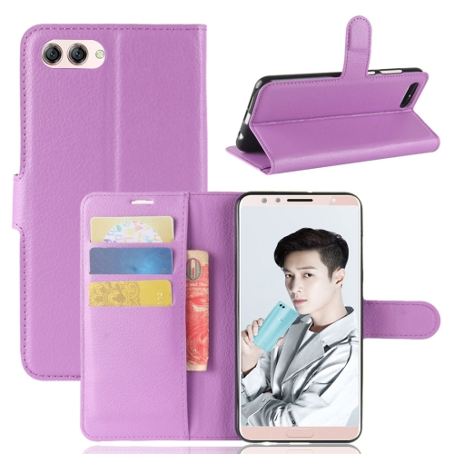 Buy Huawei Nova 2s Litchi Texture Horizontal Flip Leather Case with Holder & Wallet & Card Slots, Purple for $2.42 in SUNSKY store
