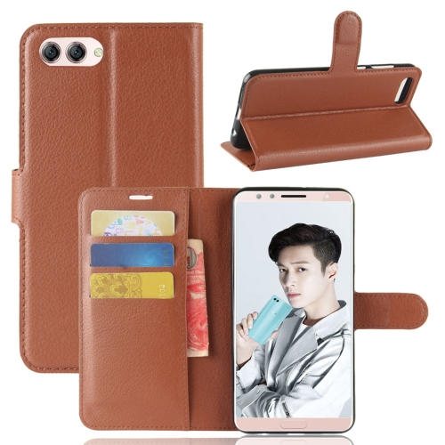 Buy Huawei Nova 2s Litchi Texture Horizontal Flip Leather Case with Holder & Wallet & Card Slots, Brown for $2.42 in SUNSKY store