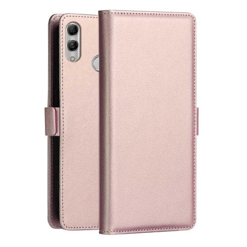 DZGOGO MILO Series PC + PU Horizontal Flip Leather Case for Huawei P Smart (2019), with Holder & Card Slot & Wallet (Rose Gold)