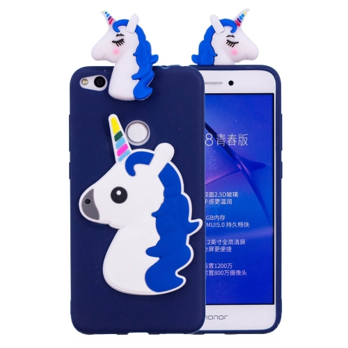 Buy Huawei P8 Lite, 2017 3D Unicorn Pattern TPU Protective Back Cover Case (Navy Blue) for $2.29 in SUNSKY store