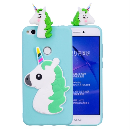 Buy Huawei P8 Lite, 2017 3D Unicorn Pattern TPU Protective Back Cover Case (Baby Blue) for $2.29 in SUNSKY store