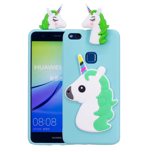 Buy Huawei P10 Lite 3D Unicorn Pattern TPU Protective Back Cover Case (Baby Blue) for $2.29 in SUNSKY store