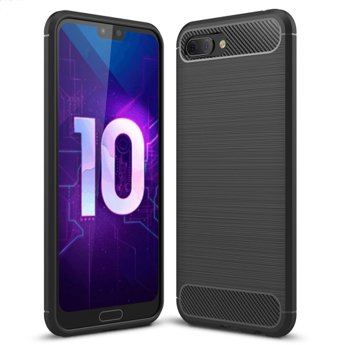 Brushed Texture Carbon Fiber Shockproof TPU Case for Huawei Honor 10(Black) цена