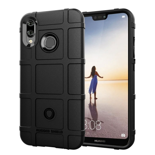 Full Coverage Shockproof TPU Case for Huawei P20 Lite / Nova 3e (Black)