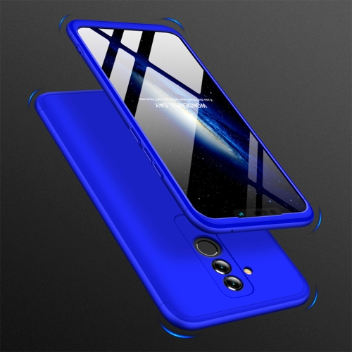 GKK Three Stage Splicing Full Coverage PC Case for Huawei Mate 20 Lite / Maimang 7(Blue)