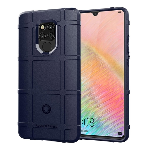 Shockproof Full Coverage Silicone Case for Huawei Mate 20X Protector Cover (Dark Blue)