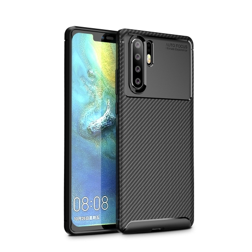 Carbon Fiber Texture Shockproof TPU Case for Huawei P30 Pro (Black)