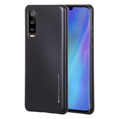 MERCURY GOOSPERY I JELLY Metal Series Shockproof Soft TPU Case for Huawei P30(Black)