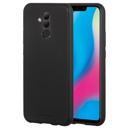 MERCURY GOOSPERY STYLE LUX Series Shockproof Soft TPU Case for Huawei Mate 20 Lite(Black)