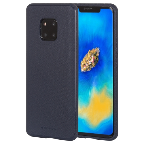 MERCURY GOOSPERY STYLE LUX Series Shockproof Soft TPU Case for Huawei Mate 20 Pro(Navy Blue)