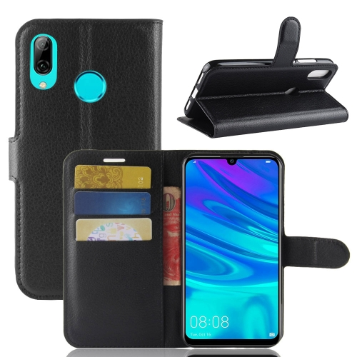 Litchi Texture Horizontal Flip Leather Case for Huawei P30 Lite, with Wallet & Holder & Card Slots (Black) фото