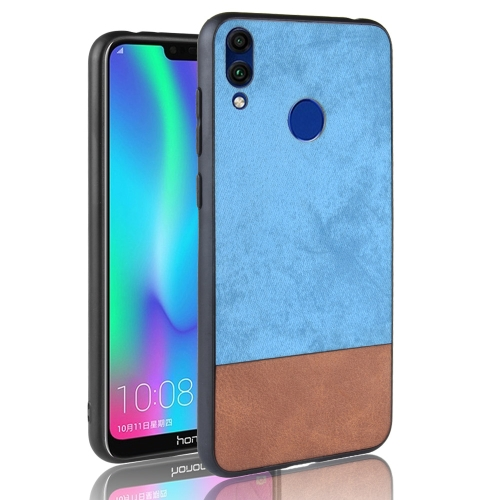 Shockproof Color Matching Denim PC + PU + TPU Case for Huawei Honor 8C (Blue)