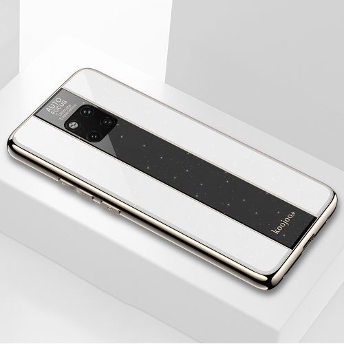 Electroplated Mirror Glass Case for Huawei Mate 20 Pro(White)