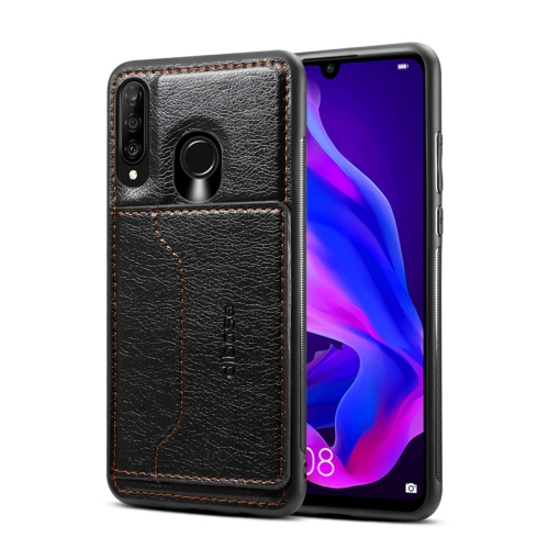Dibase TPU + PC + PU Crazy Horse Texture Protective Case for Huawei P30 lite & Nova 4e , with Holder & Card Slots (Black)