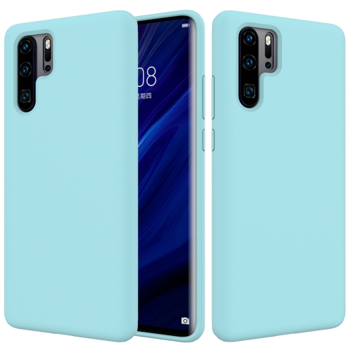 Solid Color Liquid Silicone Shockproof Full Coverage Case for Huawei P30 Pro (Sky Blue)