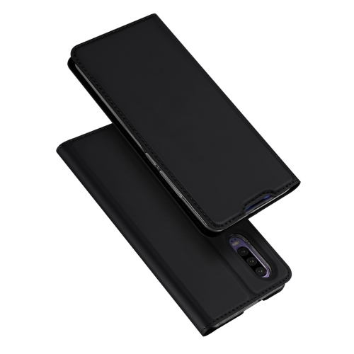 DUX DUCIS Skin Pro Series Horizontal Flip PU + TPU Leather Case for Huawei P30, with Holder & Card Slots (Black)
