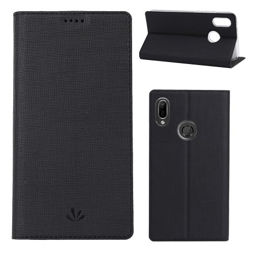 ViLi Texture PU Leather Case for HUAWEI Y6(2019) /  Y6 Prime(2019) / Honor8A ,with Holder & Card Slots & Wallet (Black)