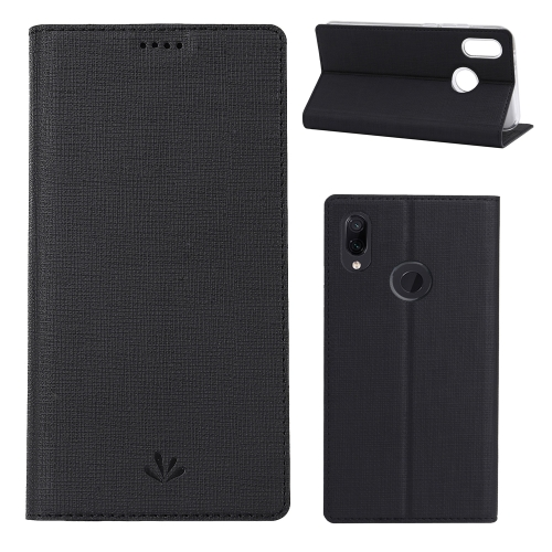 ViLi Texture PU Leather Case for HUAWEI Y7(2019) / Y7 Prime(2019) ,with Holder & Card Slots & Wallet(Black)