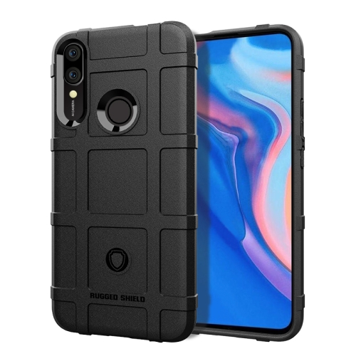 Shockproof Protector Cover Full Coverage Silicone Case for Huawei Y9 (2019) / Enjoy 9 Plus(Black)