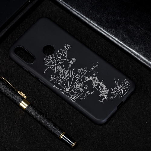 Lotus Pond Painted Pattern Soft TPU Case for Huawei Y6 (2019)