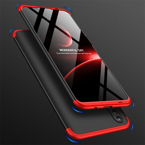 GKK Three Stage Splicing Full Coverage PC Case for Huawei Honor 10 Lite (Black Red)