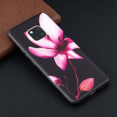 Lotus Pattern Stereo Relief Soft TPU Protective Case for Huawei Mate 20 Pro