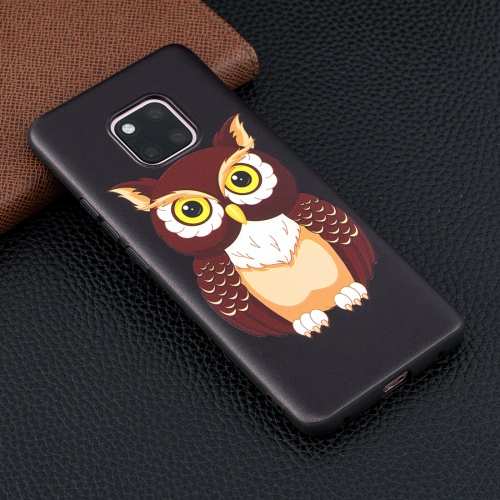 Big Owl Pattern Stereo Relief Soft TPU Protective Case for Huawei Mate 20 Pro