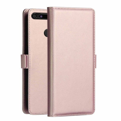 DZGOGO MILO Series PC + PU Horizontal Flip Leather Case for Huawei Honor View 20, with Holder & Card Slot & Wallet (Rose Gold)