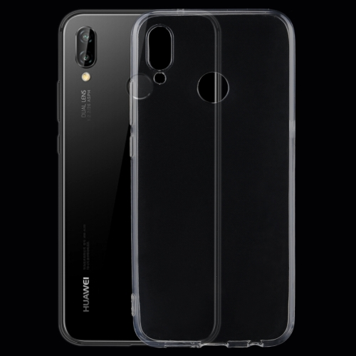 For Huawei P20 Lite 0.75mm Ultra-thin Transparent TPU Protective Back Cover Case(Transparent) free shipping factory price aluminum profile for led strip milky transparent cover for 12mm pcb with fittings 1m pcs