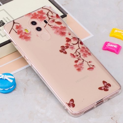 Buy Huawei Mate 10 Pro IMD Maple Leaves Pattern Clear TPU Soft Protective Back Case for $1.26 in SUNSKY store