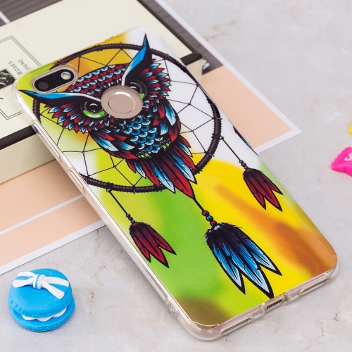 Buy Huawei P9 Lite Mini / Enjoy 7 Noctilucent Windbell Owl Pattern TPU Soft Back Case Protective Cover for $1.40 in SUNSKY store