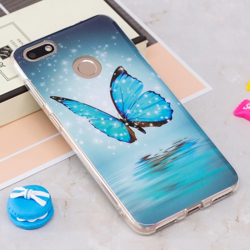 Buy Huawei P9 Lite Mini / Enjoy 7 Noctilucent Blue Butterfly Pattern TPU Soft Back Case Protective Cover for $1.40 in SUNSKY store