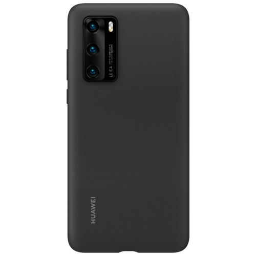 For Huawei P40 Shockproof Silicone Protective Case (Black)