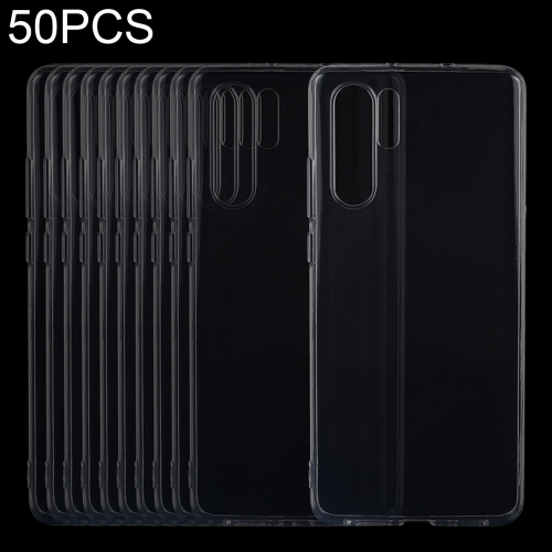 50 PCS 0.75mm Ultrathin Transparent TPU Soft Protective Case for Huawei P30 Pro