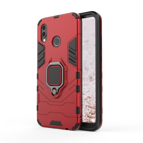 PC + TPU Shockproof Protective Case for Huawei P20 Lite / Nova 3e, with Magnetic Ring Holder (Red)