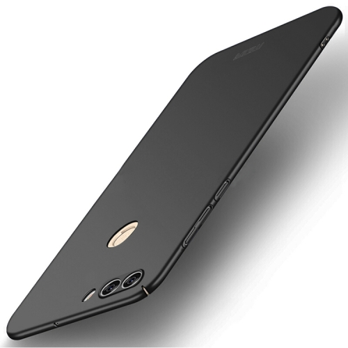 MOFI for Huawei Enjoy 7S / P Smart PC Ultra-thin Edge Fully Wrapped Up Protective Case Back Cover(Black) moskii brand ultra thin protective pc backcase cover for zte nubia x6
