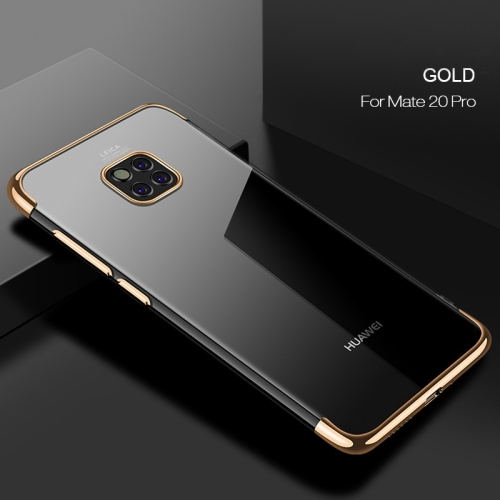 CAFELE Ultra-thin Electroplating Soft TPU Case for Huawei Mate 20 Pro (Gold)