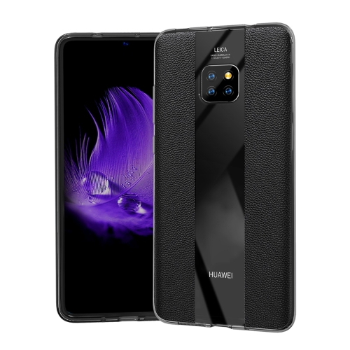 Anti-slip Leather + TPU Protective Case for Huawei Mate 20 Pro (Black)