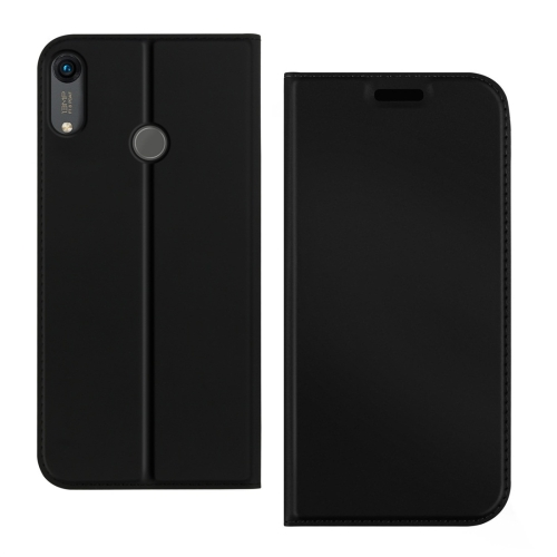 DZGOGO ISKIN Series Slight Frosted PU+ TPU Case for Huawei Y6 (2019) / Honor Play 8A, with Holder & Card Slot (Black)