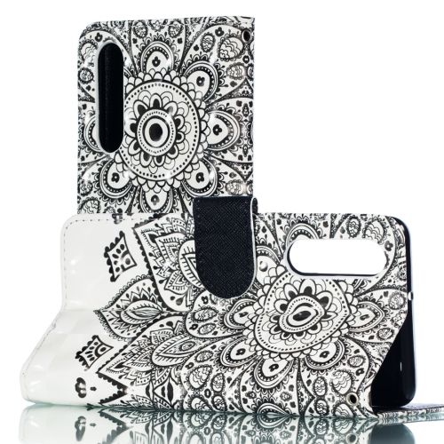 3D Mandala Pattern Horizontal Flip PU Leather Case for Huawei P30, with Holder & Card Slots & Wallet & Photo Frame