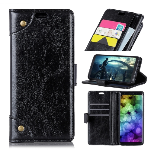 Copper Buckle Nappa Texture Horizontal Flip Leather Case for Huawei Honor 10 Lite / P Smart (2019), with Holder & Card Slots & Wallet(Black)