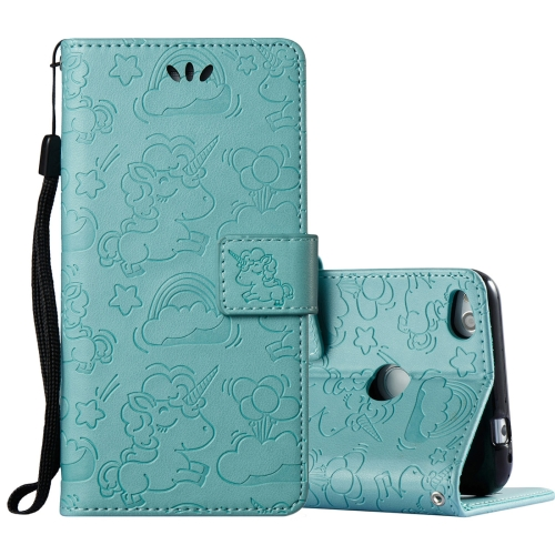 Buy Huawei Honor P8 Lite, 2017 Pressed Horse Cloud Print Horizontal Flip Leather Case with Holder & Card Slots & Wallet & Lanyard, Green for $2.92 in SUNSKY store