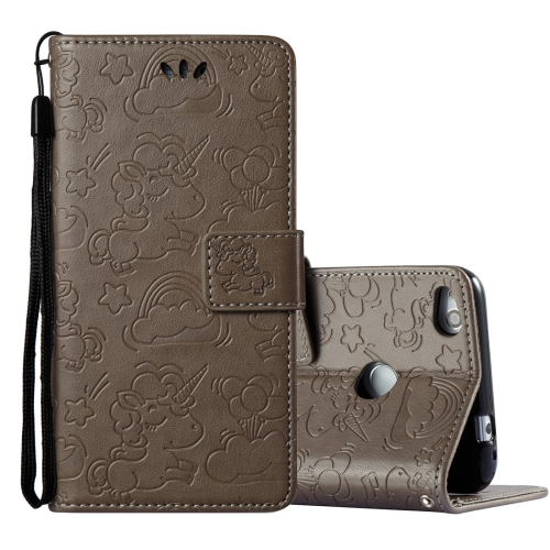 Buy Huawei Honor P8 Lite, 2017 Pressed Horse Cloud Print Horizontal Flip Leather Case with Holder & Card Slots & Wallet & Lanyard, Brown for $2.92 in SUNSKY store