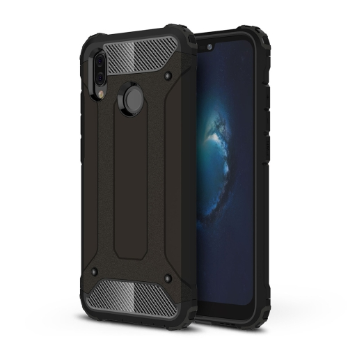 b7806f1930673c For Huawei P20 Lite Full-body Rugged TPU + PC Combination Back Cover  Case(Black) ...