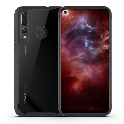 Transparent PC + TPU Full Coverage Shockproof Protective Case for Huawei Nova 4 (Black)