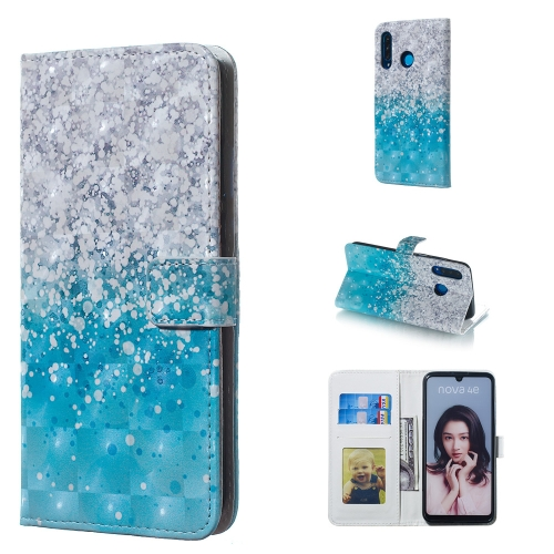 Sea and Sand Pattern 3D Horizontal Flip Leather Case for Huawei P30 Lite, with Holder & Card Slots & Photo Frame & Wallet